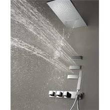 Kit de ducha termostático mural Cascada y Jets 4 vías TRES RR