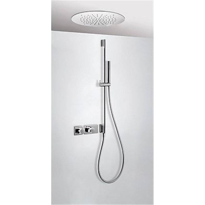 Kit de ducha termostático TRES RTR+ Ø50cm