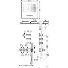 Kit de ducha termostático Cascada y Jets 4 vías TRES RTC
