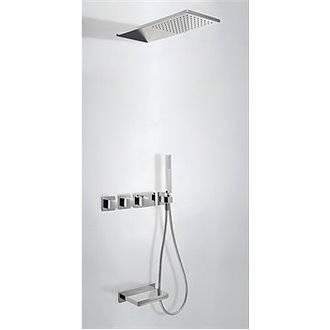 Kit de bañera termostático 3 vías TRES Cascada RR