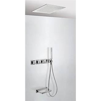 Kit de bañera termostático 3 vías TRES Cascada RTC
