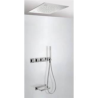 Kit de bañera termostático Cromoterapia y Cascada 3 vías TRES