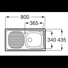 Fregadero 80x43,5cm escurridor izda J Roca