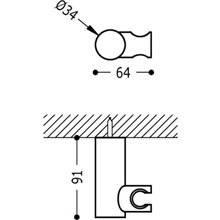 Soporte orientable de ducha Verde TRES