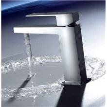 Grifo de lavabo con válvula desagüe TRES S SLIM