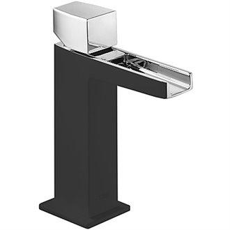 Grifo de lavabo Cascada Negro CUB SLIM TRES