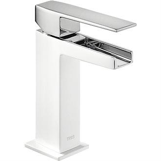 Grifo de lavabo Cascada Blanco SLIM TRES