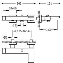 Kit de Bañera-Ducha Negro Cromo SLIM TRES