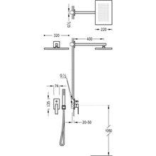 Conjunto de ducha 2 vías Negro Cromo SLIM TRES