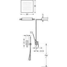 Conjunto de ducha 2 vías RT TRES SLIM