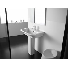 Lavabo con pedestal The Gap 55x47cm Roca