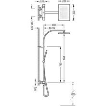 Columna de ducha termostática Negra TRES SLIM
