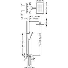 Columna de bañera-ducha termostática TRES SLIM