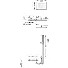 Conjunto para bañera-ducha termostático TRES SLIM