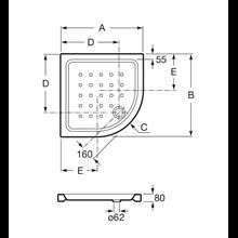 Plato 80x80cm angular Easy Roca