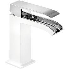 Grifo de lavabo Blanco de Cascada Libre TRES CUADRO