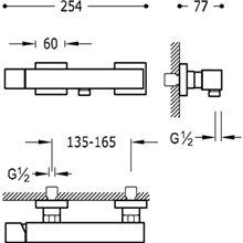 Kit de ducha Acero TRES CUADRO