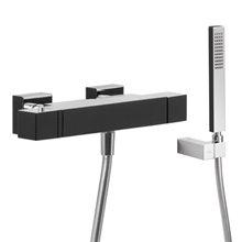 Kit de Bañera-Ducha termostática Cr/Ng TRES CUADRO