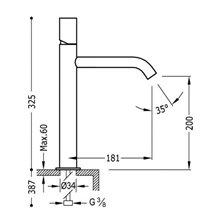 Grifo de lavabo M TUB TRES STUDY