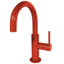 Grifo de lavabo Rojo en C TRES STUDY M