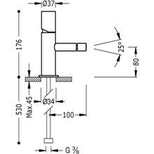 Grifo de bidé Acero TUB TRES STUDY