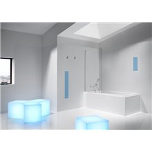 Mampara fija para bañera de 80cm Victoria Roca