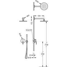 Conjunto de ducha Acero de 2 vías TRES STUDY