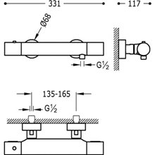 Kit ducha termostática AC TRES STUDY