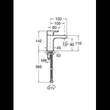Grifo compacto lavabo desagüe click-clack L90 Roca
