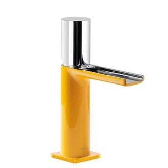 Grifo de lavabo Amarillo de Cascada TRES TUB LOFT