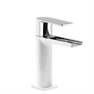 Grifo de lavabo Blanco de Cascada TRES LOFT