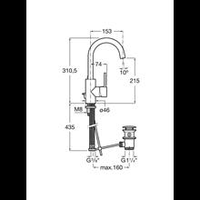 Grifo de lavabo maneta lateral integrada Targa Roca
