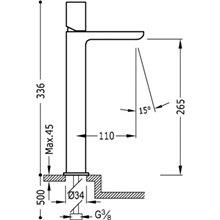 Grifo de lavabo Negro L TUB LOFT TRES
