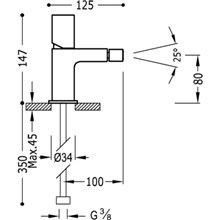 Grifo de bidé de Acero TUB TRES LOFT