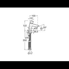 Mezclador lavabo con pulsador Instant Roca