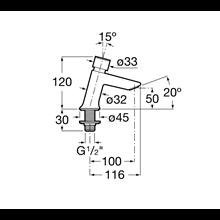Grifo lavabo con pulsador Instant Roca