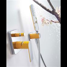 Conjunto de ducha Amarillo de 2 vías TRES LOFT