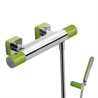 Kit ducha termostática Cr/Ve TRES LOFT