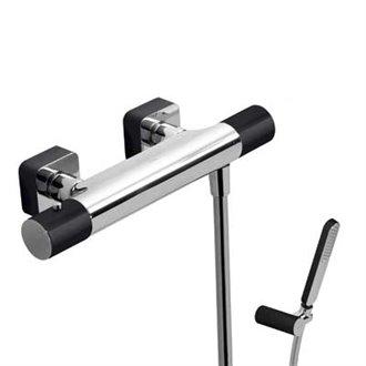 Kit ducha termostática Cr/Ne TRES LOFT