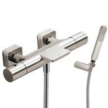 Kit bañera-ducha termostática Acero TRES LOFT