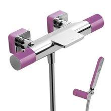 Kit bañera-ducha termostática Cr/Vi TRES LOFT