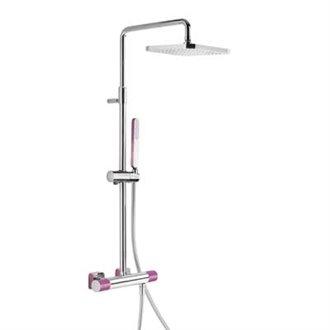 Columna de ducha termostática Cr/Vi TRES LOFT
