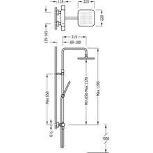Columna de ducha termostática Cr/Fu TRES LOFT