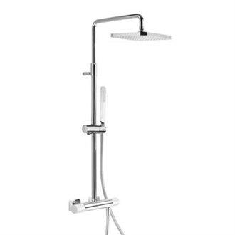 Columna de ducha termostática Cr/Bl TRES LOFT