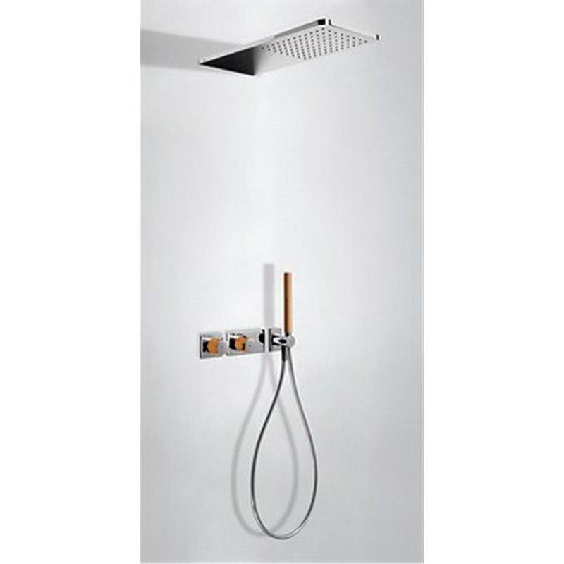 Kit de ducha termostático 2 vías Cr/Na TRES LOFT