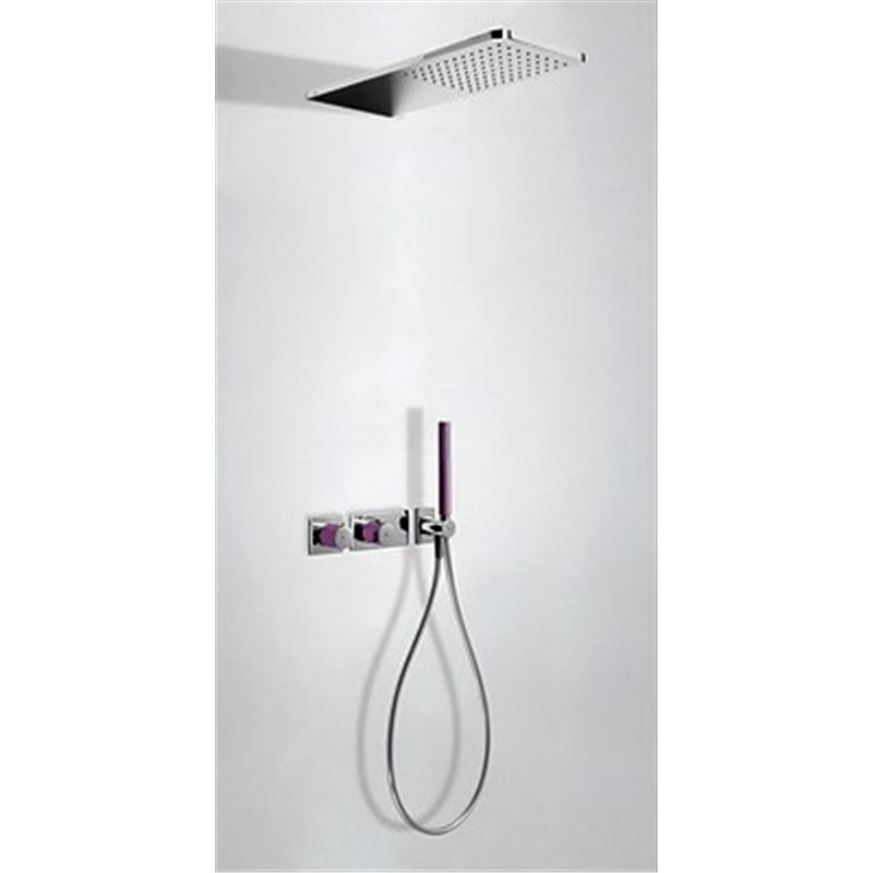 Kit de ducha termostático 2 vías Cr/Vi TRES LOFT