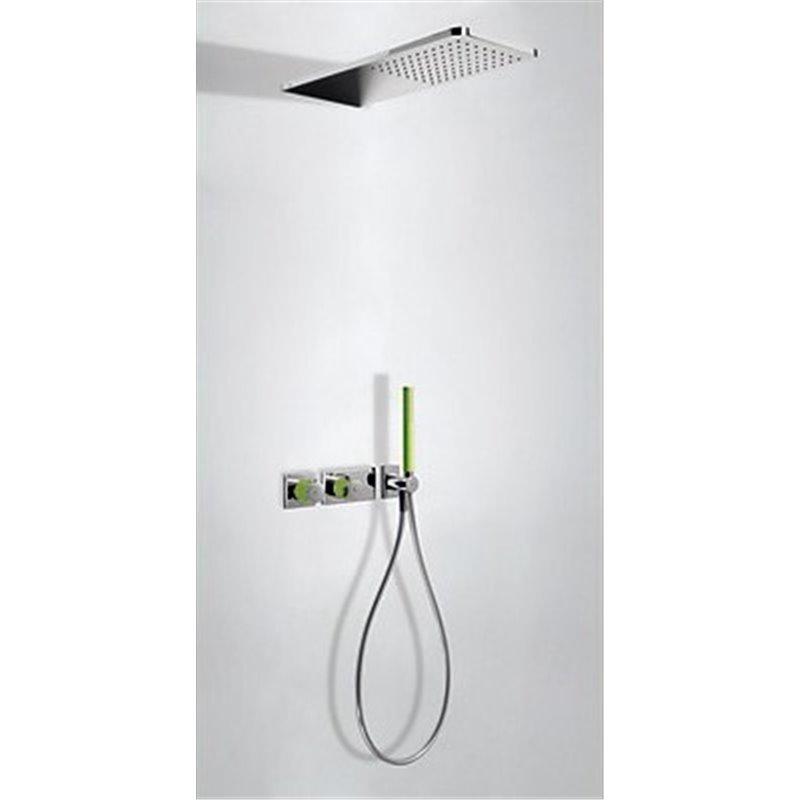 Kit de ducha termostático 2 vías Cr/Ve TRES LOFT
