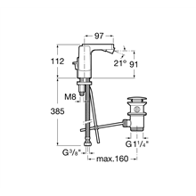 Grifo de bidé maneta lateral L90 Roca