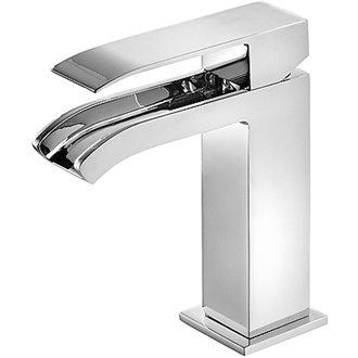 Grifo de lavabo Cascada Libre con desagüe CUADRO-TRES