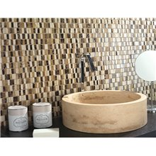 Lavabo sobre encimera Bowl Travertine